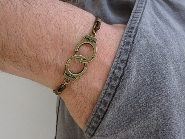 Handcuff Leather Bracelet