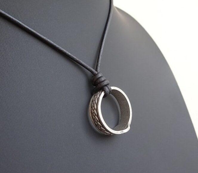 Raido Rune Ring Necklace