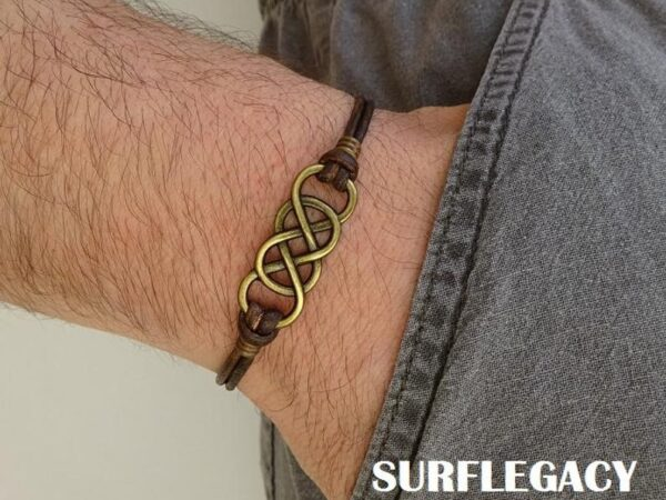 Double Infinity Leather Bracelet