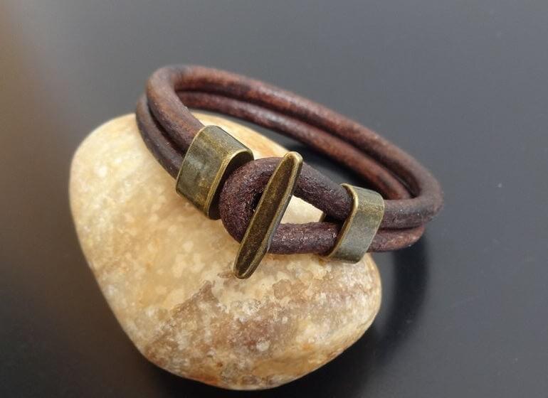Rugged Men's Leather Bracelet