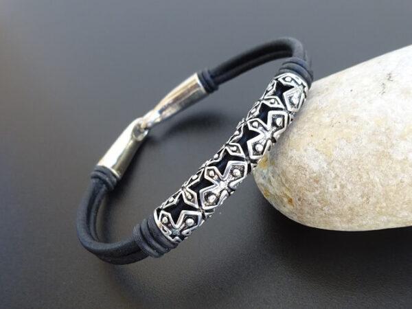 templar cross leather bracelet