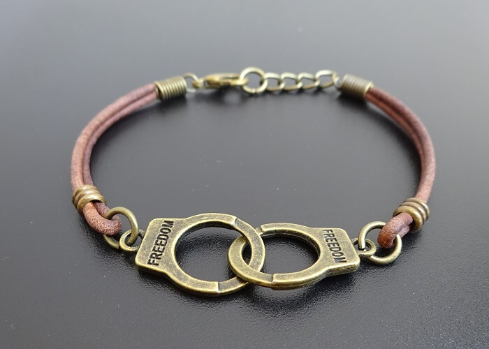 Handcuffs Leather Bracelet