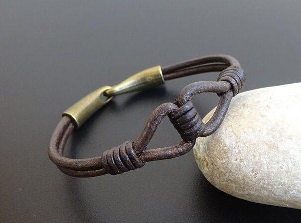 Mens Leather Bracelet rugged