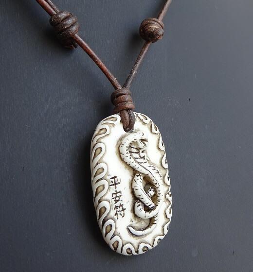 snake necklace on slip knot