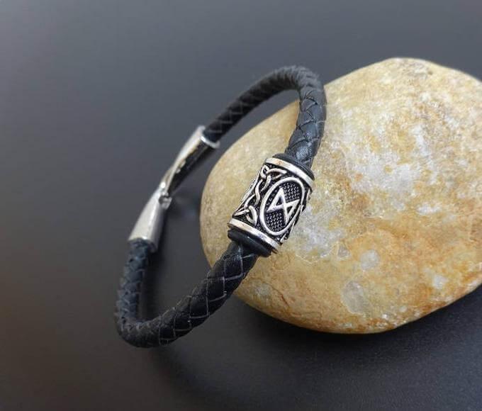 viking bracelet with rune