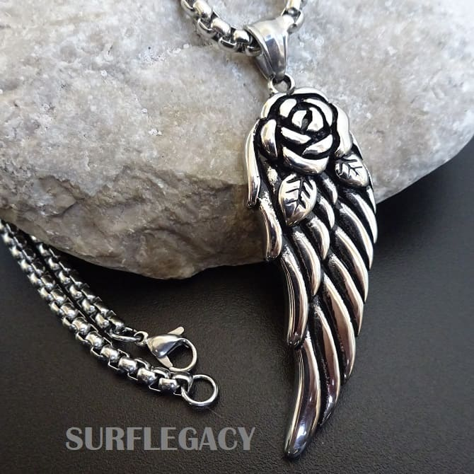 Stainless steel Angel Wing Necklace