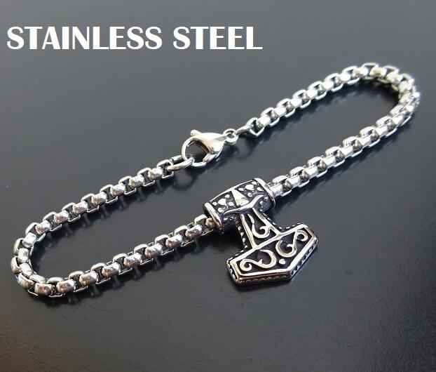 stainless steel viking bracelet
