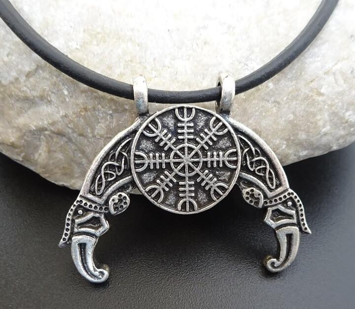 Viking Necklace on leather